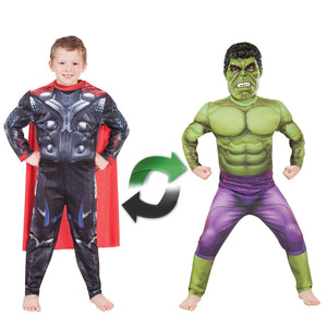 Thor To Hulk Deluxe Reversible Costume - Size 4-6