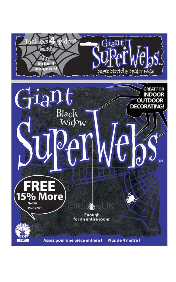 SPIDER WEBBING - BLACK