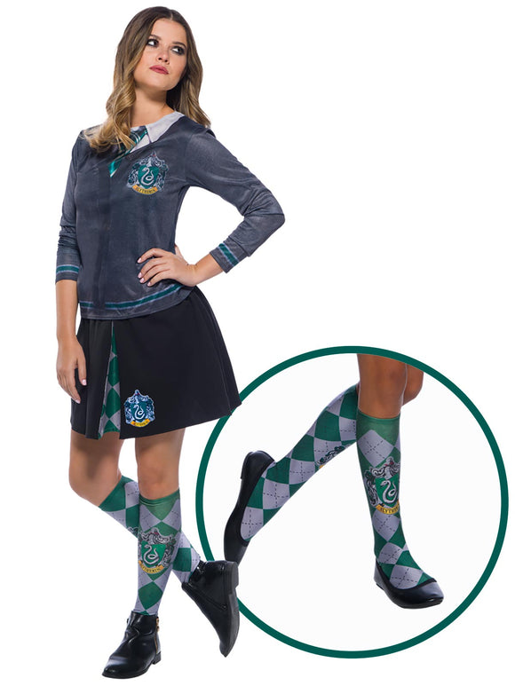 Slytherin Socks - One Size (Fits Shoe Size 6-11)
