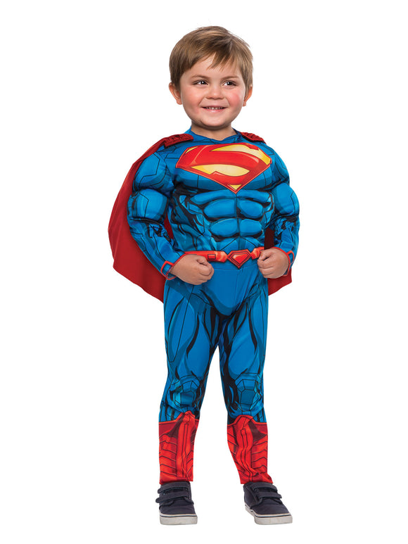 Superman Muscle Chest Costume - Size Toddler