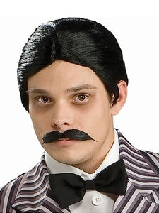 GOMEZ WIG & MOUSTACHE SET - ADULT