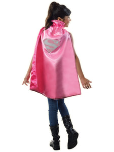 SUPERGIRL DC PINK CAPE - SIZE 6+