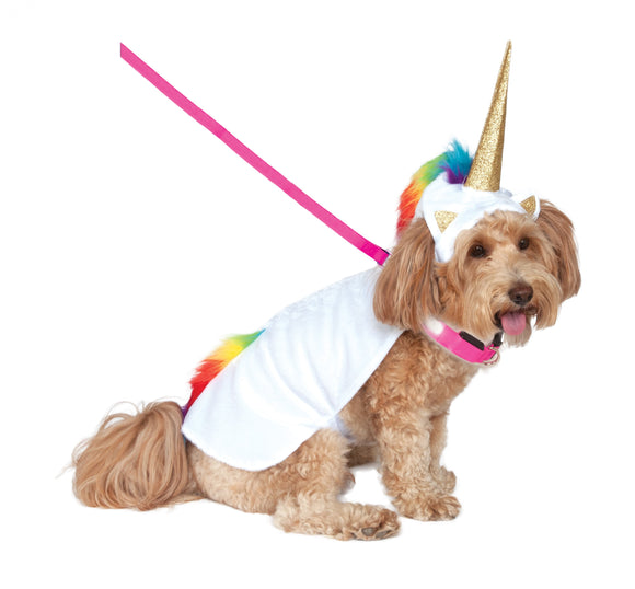Unicorn Light Up Pet Costume - Size S