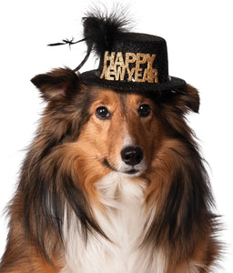 Happy New Year Pet Hat - Size S-M