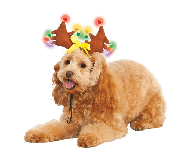 Reindeer Light-Up Pet Costume - Size S-M