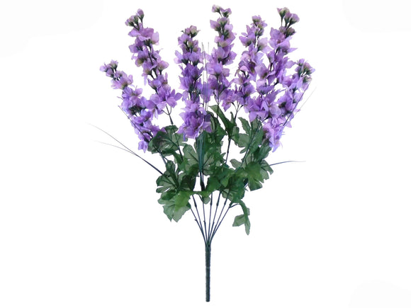 Delphinium Bush Artificial Silk Flowers 24