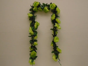 Roses Garland Artificial Silk Flower 6 ft Vine FV094 - Phoenix Silk Flower Marketplace