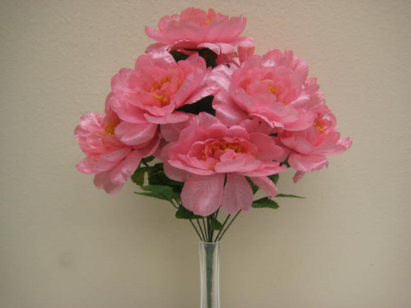 Peony Bush Satin 12 Artificial Flowers 20