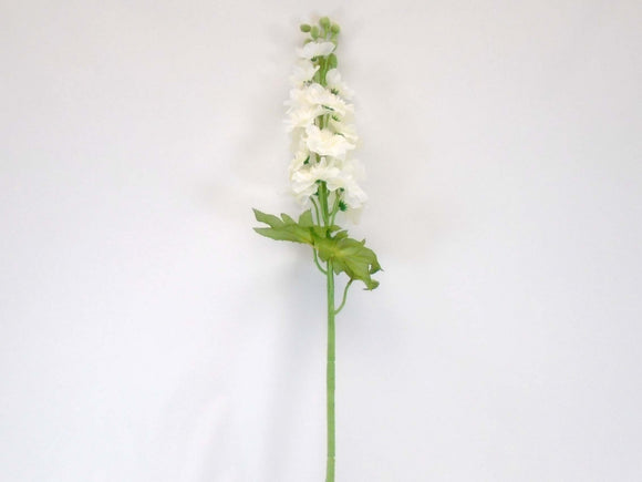 CREAM Delphinium Stem Artificial Silk Flowers 34