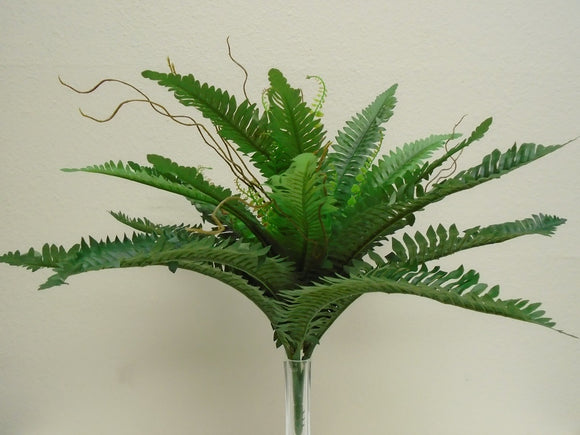 Boston Fern Bush 28 Leaves Artificial Silk Plant Greenery 1725 - Phoenix Silk Flower Marketplace