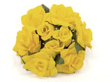 "2 Candle Rings Roses Center Pieces Artificial Velvet Like Flowers 3"" 616 - Phoenix Silk Flower Marketplace"