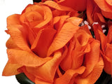 "Open Roses Bush Artificial Silk Flowers 20"" Bouquet 12-293"