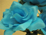 "6 Bushes Small Open Rose Artificial Silk Flowers 12"" Bouquet 7-2026 - Phoenix Silk Flower Marketplace"