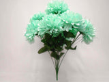 "Chrysanthemum Mum Ball Bush 10 Artificial Silk Flowers 19"" Bouquet 2302 - Phoenix Silk Flower Marketplace"