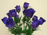 "Rose Buds Bush 14 Artificial Flowers 19"" Bouquet 265 - Phoenix Silk Flower Marketplace"