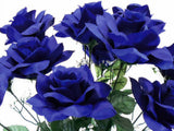 "Open Roses Bush Artificial Silk Flowers 20"" Bouquet 12-293 - Phoenix Silk Flower Marketplace"