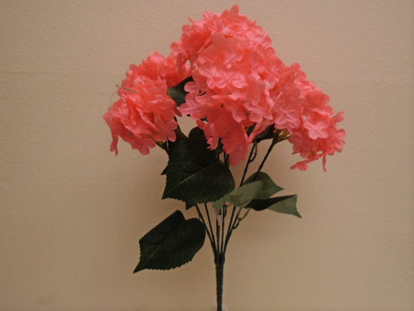 Hydrangea Bush 7 Artificial Silk Flowers 19