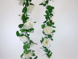 Roses Garland Artificial Silk Flowers 5.5 ft Vine 335 - Phoenix Silk Flower Marketplace