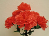 "4 Bushes Carnation 6 Artificial Silk Flowers 16"" Bouquet FB341 - Phoenix Silk Flower Marketplace"