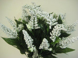 "Peppermint Bush 24 Artificial Foam Flowers Filler 22"" Bouquet 417 - Phoenix Silk Flower Marketplace"