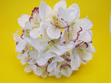 "Orchid Bundle 18 Artificial Satin Flowers 10"" Bouquet 4340 - Phoenix Silk Flower Marketplace"