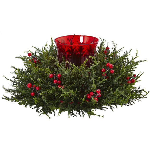 Cedar Berry Candelabrum 4892 - Phoenix Silk Flower Marketplace