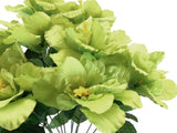 "Hibiscus Bush 12 Artificial Silk Flowers 20"" Bouquet 5325 - Phoenix Silk Flower Marketplace"