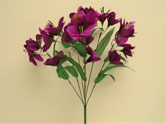 Alstroemeria Bush Artificial Silk Flowers 20