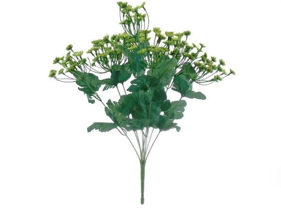 GREEN Queen Anne's Lace Bush Artificial Plastic Foam Flowers 20