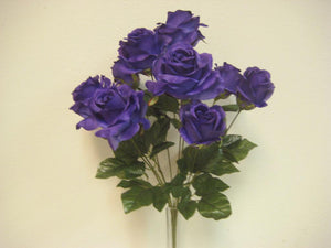 "Open Roses Artificial Flower Bush 20"" Bouquet 9-6063 - Phoenix Silk Flower Marketplace"