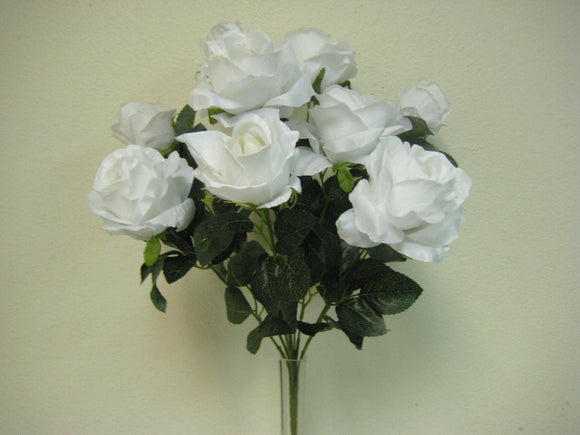 Open Roses Artificial Flower Bush 20