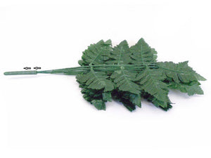 "24 Sprays GREEN Leather Fern Artificial Silk Leaves 18"" Greenery 5665GN - Phoenix Silk Flower Marketplace"
