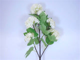 "Snowball Spray 6 Artificial Silk Flowers 25"" Stem 6950 - Phoenix Silk Flower Marketplace"