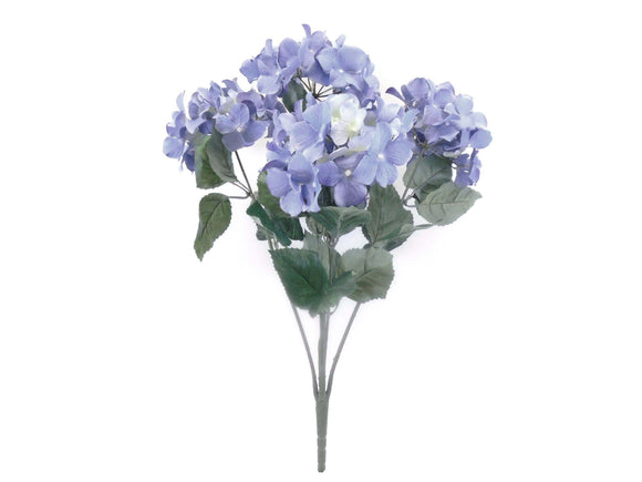 Hydrangea Bush 5 Heads Artificial Silk Flowers 23