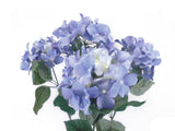 "Hydrangea Bush 5 Heads Artificial Silk Flowers 23"" Bouquet 6994 - Phoenix Silk Flower Marketplace"