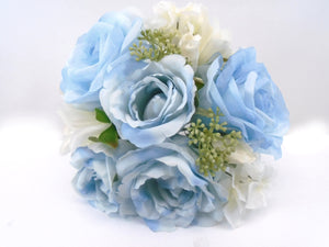 "Rose Dahlia Hydrangea Bundle Artificial Silk Flowers 10"" Bouquet 8217 - Phoenix Silk Flower Marketplace"
