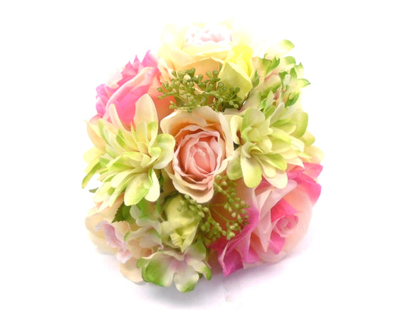 Rose Dahlia Hydrangea Bundle Artificial Silk Flowers 10