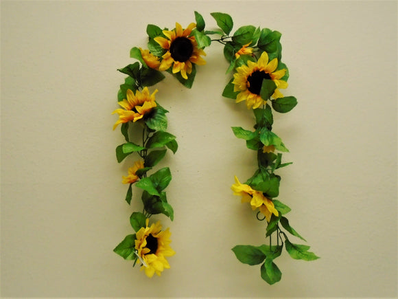 Sunflowers Garland Artificial Silk Flowers 65