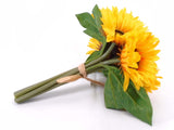 "YELLOW Sunflowers Bundle Artificial Silk Flowers 11"" Bouquet 7-61012 YL - Phoenix Silk Flower Marketplace"
