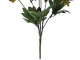 "DARK BROWN Jumbo Peony Bush Artificial Silk Flower 21"" Bouquet 7-1156 DKBR"