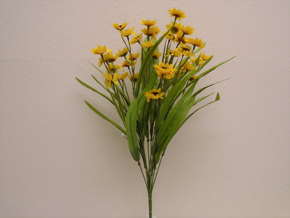 YELLOW Mini Sunflowers Bush Artificial Silk Flowers 19