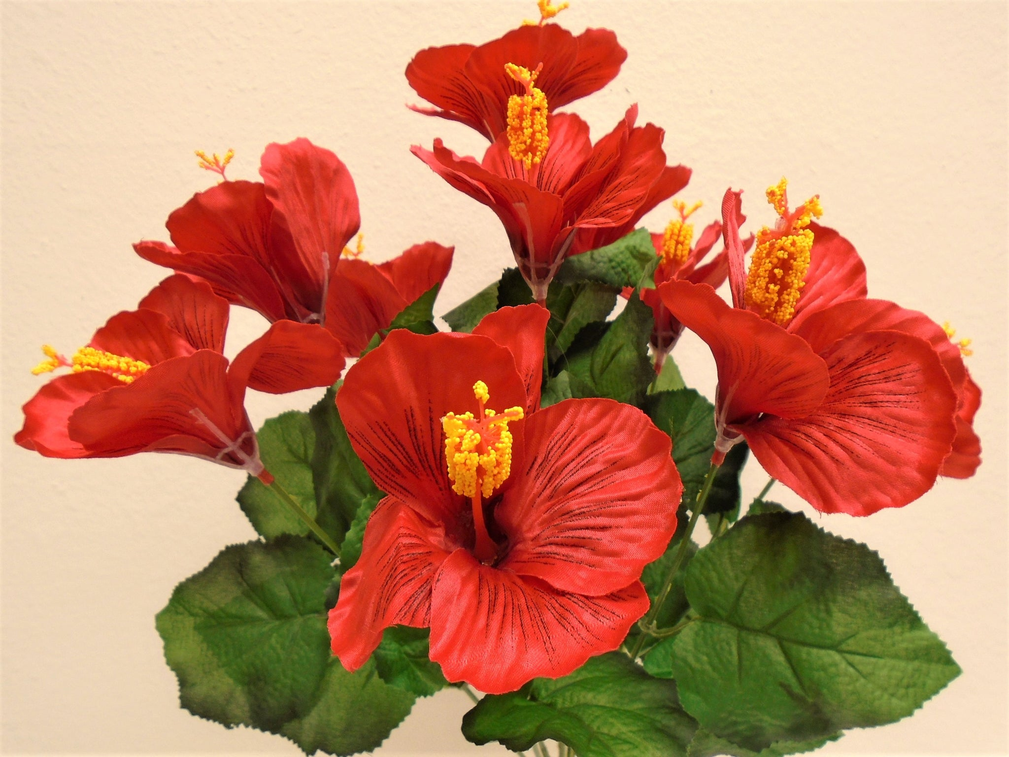 Hibiscus Bush 10 Artificial Silk Flowers 18 Bouquet 6215 Phoenix