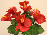 "Hibiscus Bush 10 Artificial Silk Flowers 18"" Bouquet 6215 - Phoenix Silk Flower Marketplace"