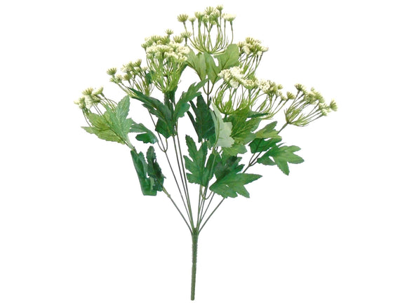 CREAM Queen Anne's Lace Bush Artificial Plastic Foam Flowers 19