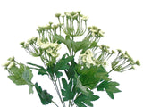 "CREAM Queen Anne's Lace Bush Artificial Plastic Foam Flowers 19"" Bouquet 9-6275CR - Phoenix Silk Flower Marketplace"