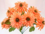 "Mum Bush Artificial Silk Flowers 20"" Bouquet 7-6406 - Phoenix Silk Flower Marketplace"