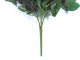 "Open Rose Bush Artificial Silk Flowers 17"" Bouquet 10 - 664 - Phoenix Silk Flower Marketplace"