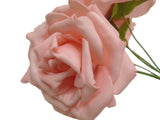 6 Stems Open Rose Foam Artificial Flowers 741 - Phoenix Silk Flower Marketplace