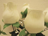 "2 Bushes Jumbo Rose Bud 7 Artificial Silk Flowers 17"" Bouquet 7028 - Phoenix Silk Flower Marketplace"