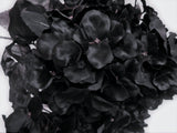 "BLACK Hydrangea Bush 7 Artificial Silk Flowers 20"" Bouquet 730BK - Phoenix Silk Flower Marketplace"